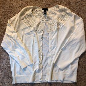 Beaded cardigan | XL